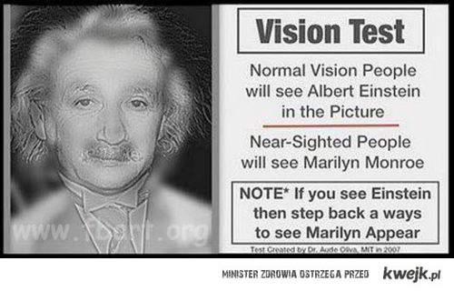 test na wzrok