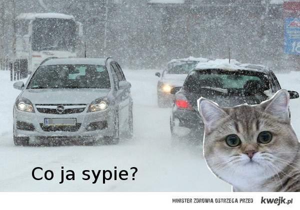 Pada śnieg!