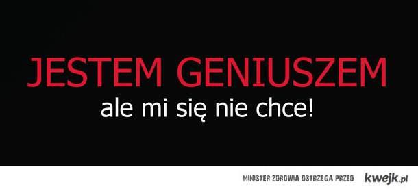 jestem geniuszem ale...
