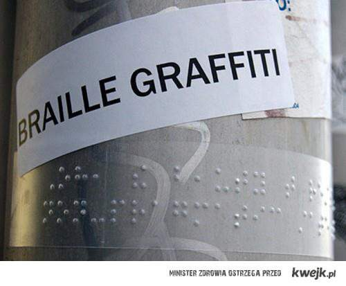 graffiti brailem