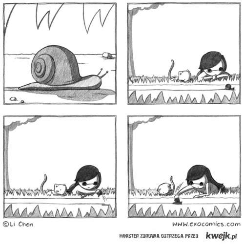 sadystka i ślimak