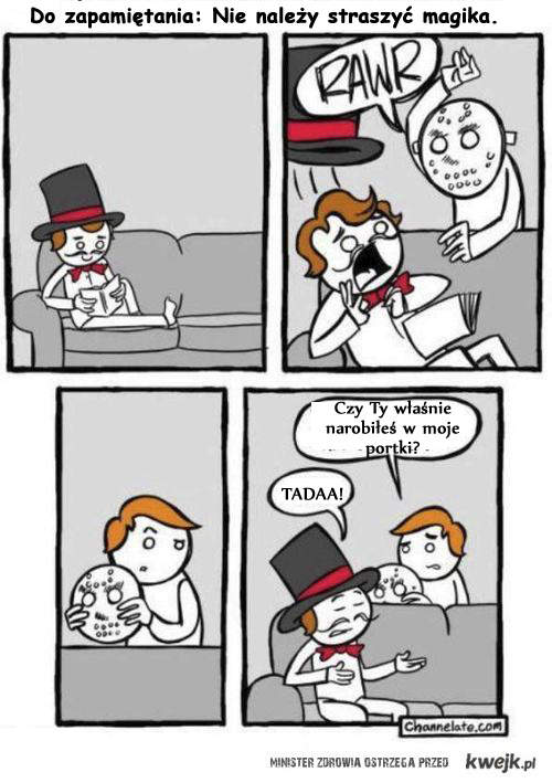 nie strasz magika
