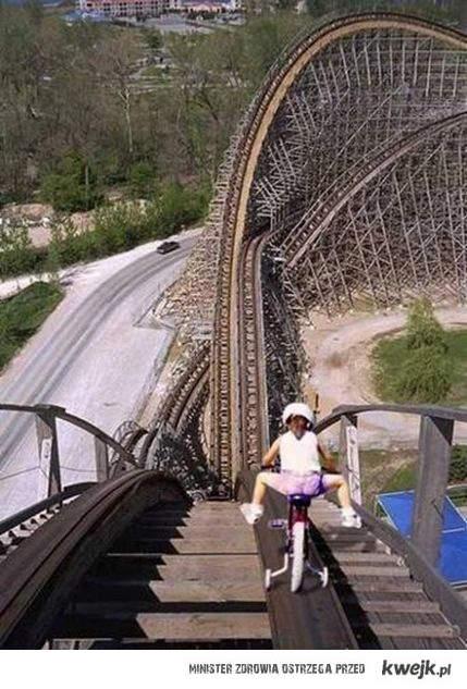 rowerem na rollercosterze