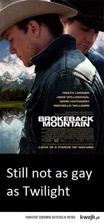 Nawet Brokeback Mountain jest mniej gejowskie od Zmierzchu