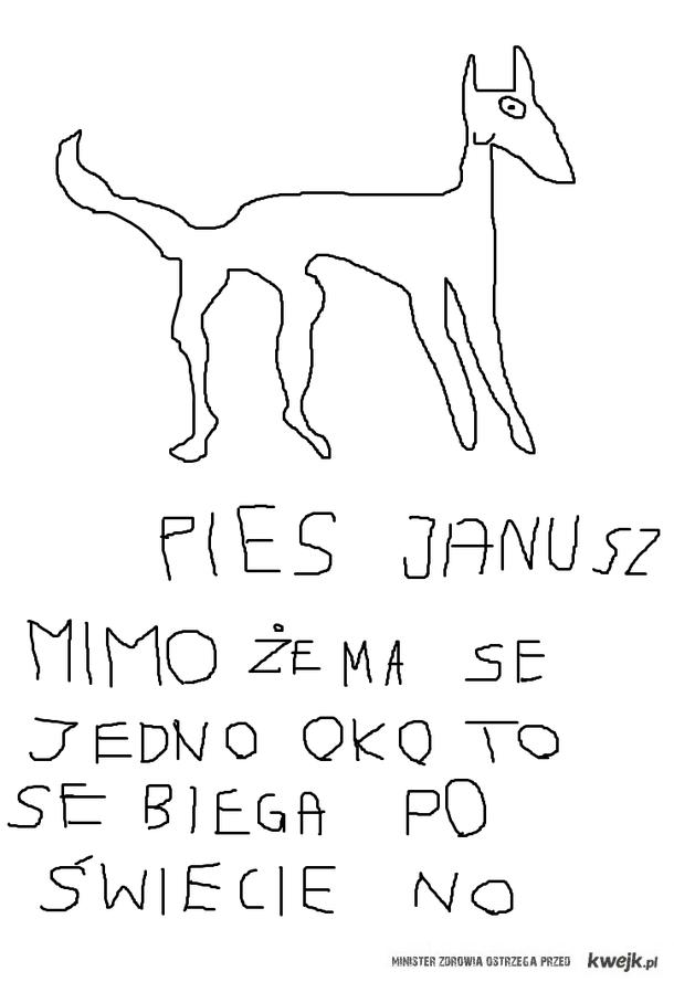 Pies Se Januszem byl no