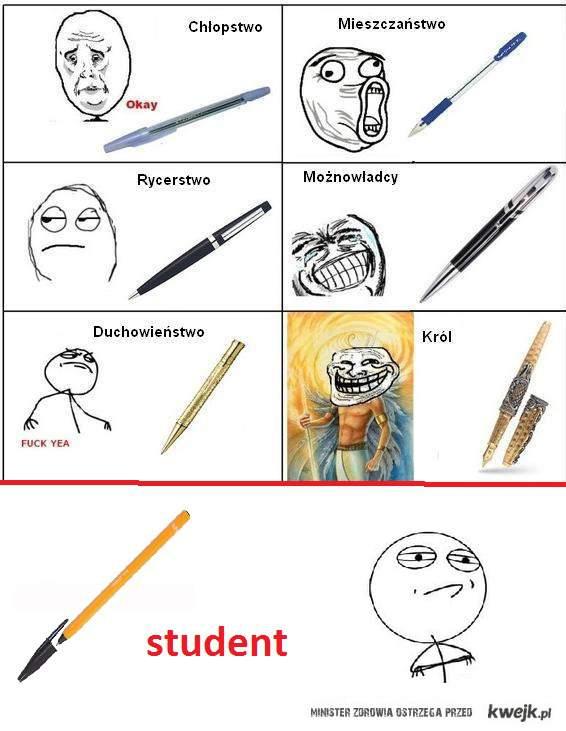 długopis - student