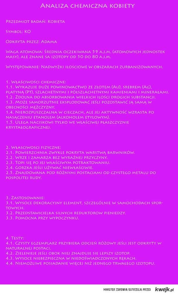 Analiza kobiety ;)