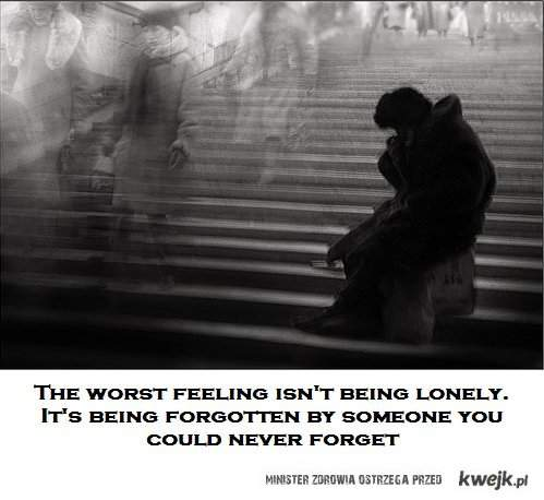 the worst feeling...