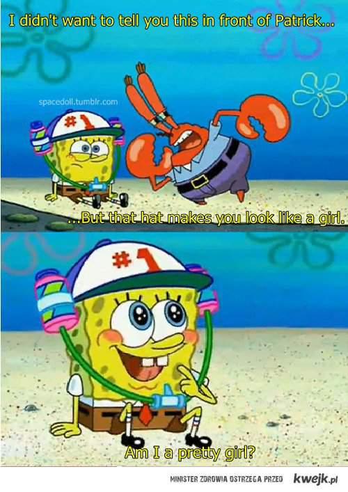 is spongebob a pretty girl?