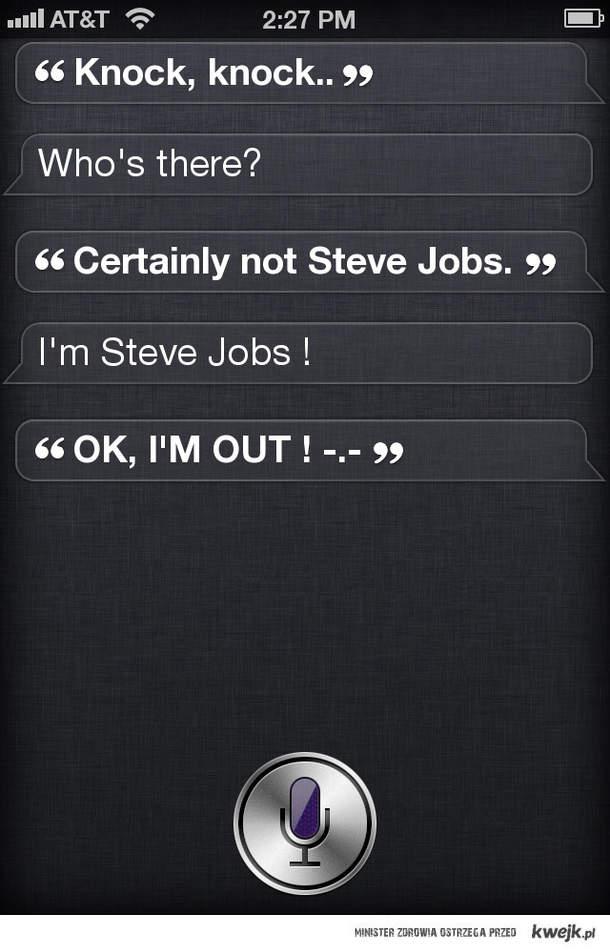 Steve Jobs & Siri