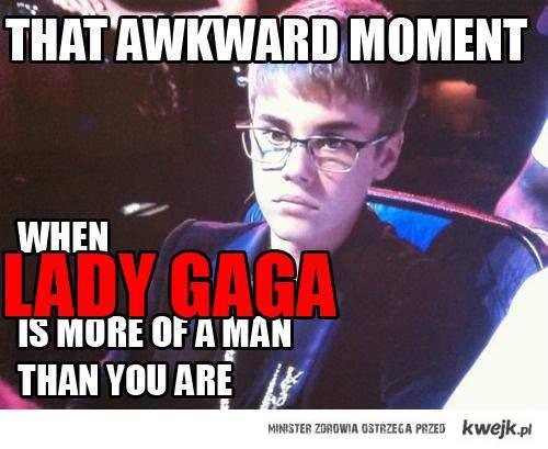 Gaga more manly than Bieber