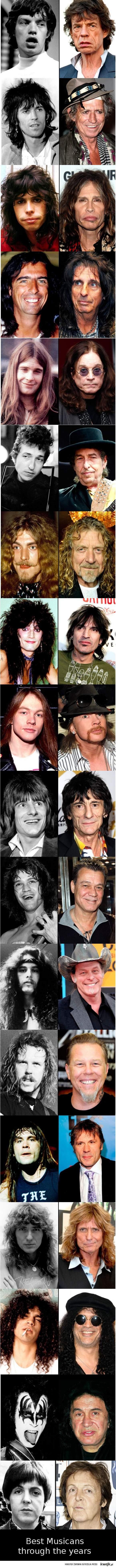 Muzycy przez lata