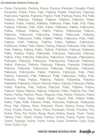 Dla Patrychy ;)