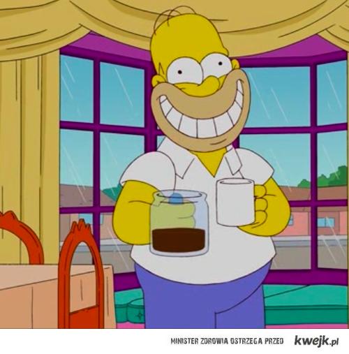 uśmiech dzięki kawie