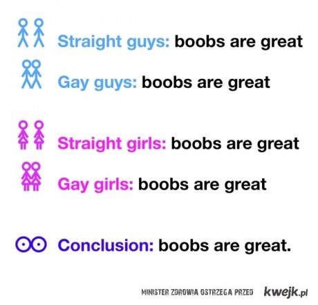 boobs are great