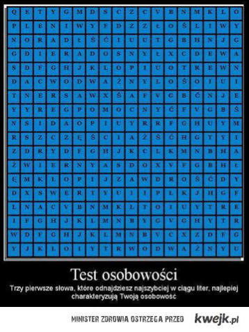 Test osobowosci