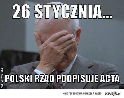 26 polski rząd podpisze ACTA