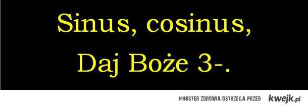 Sinus, cosinus, daj Boże 3-.