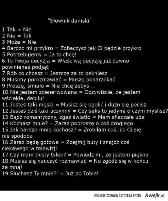 słownik damski ♥