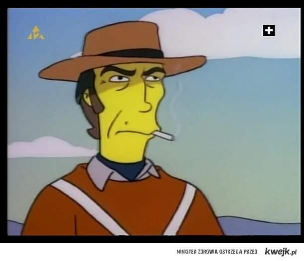 "Clint Eastwood w ""Simpsonach"""