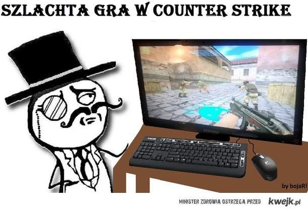 Szlachta gra w Counter Strike