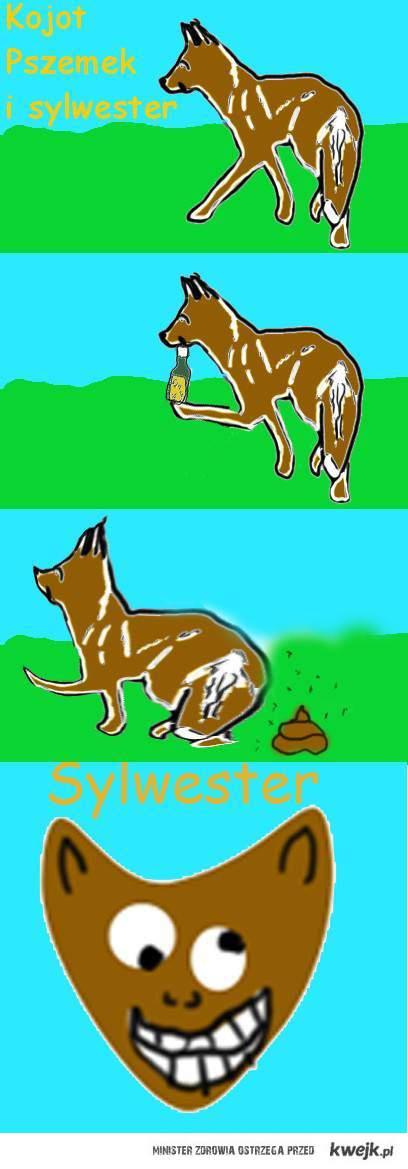Sylwester z kojotem Pszemkiem