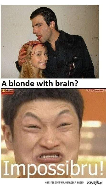 blondynka z mózgiem?