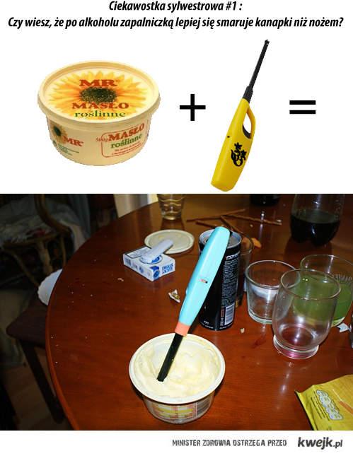 Masło + zapalniczka = ?