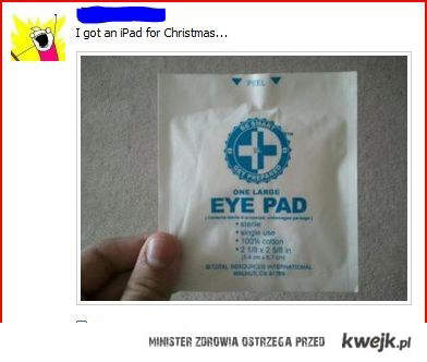 eye pad = iPad