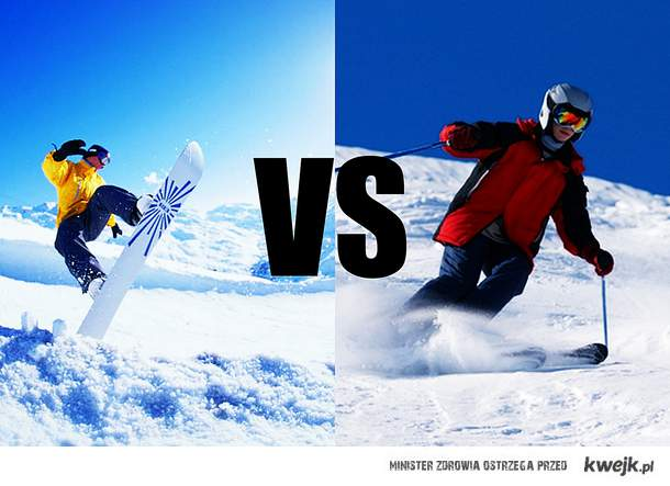 SNOWBOARD vs NARCIARSTWO