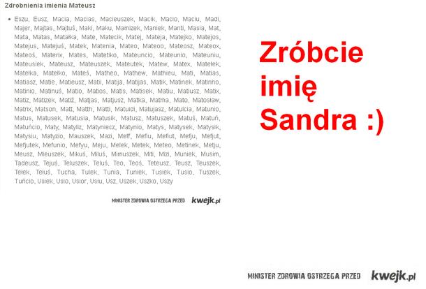 Imię Sandra
