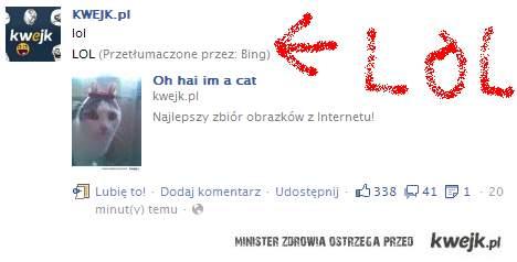 Tłumaczenie lol