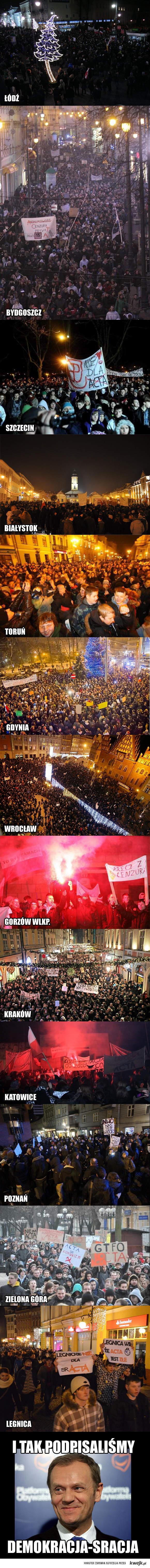 Finał protestów ACTA