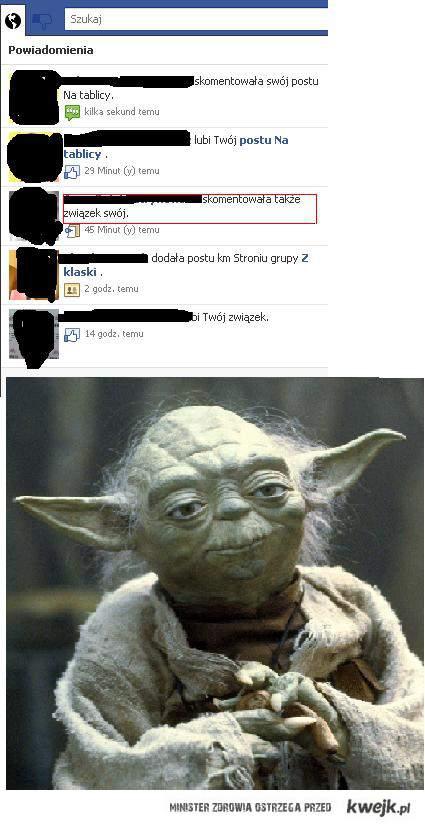 mistrz Yoda na fb