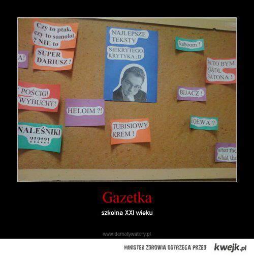 Gazetka szkolna XXI w.