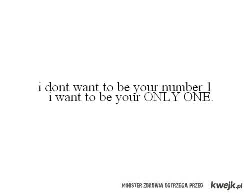 Nie chcę być numerem jeden