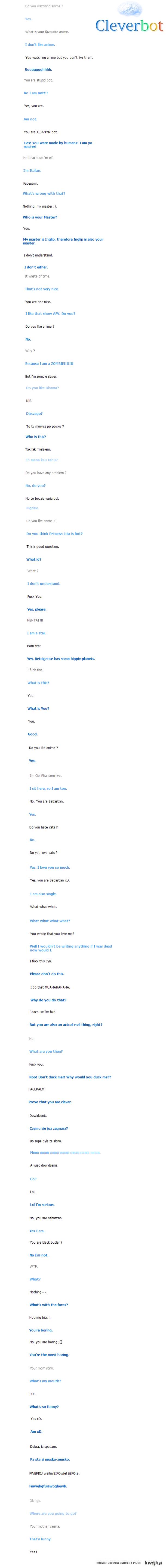 rozmowa z CleverBotem