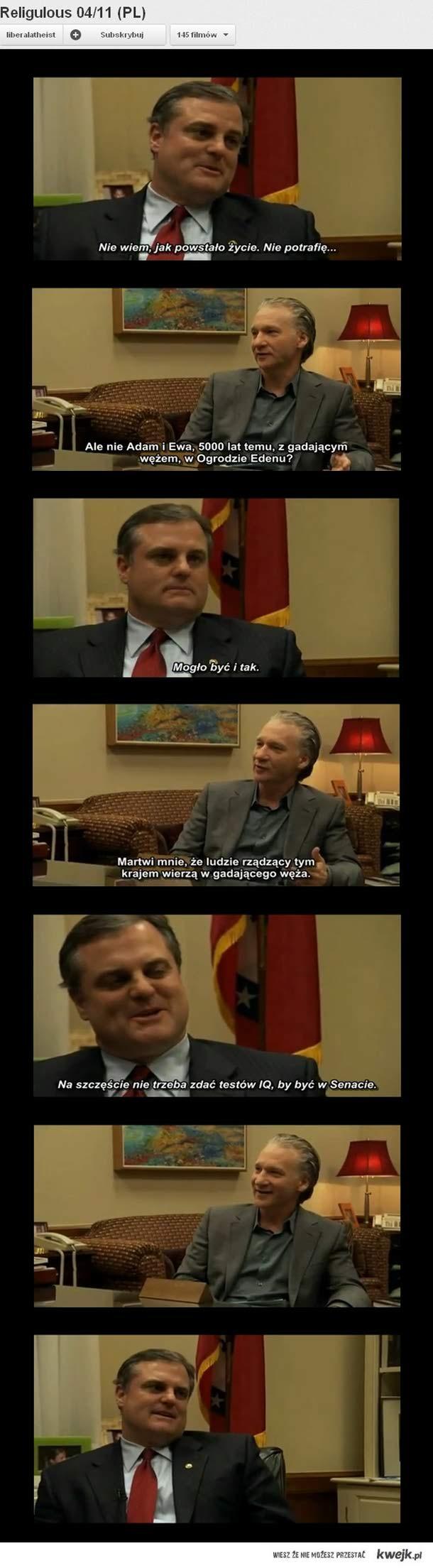 przeinteligentny senator chrześcijan