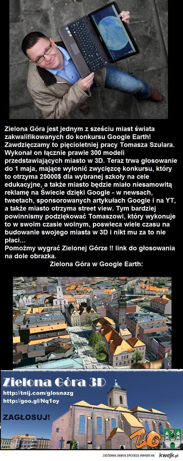Glosujmy na Zielona Gore w konkursie Google!!