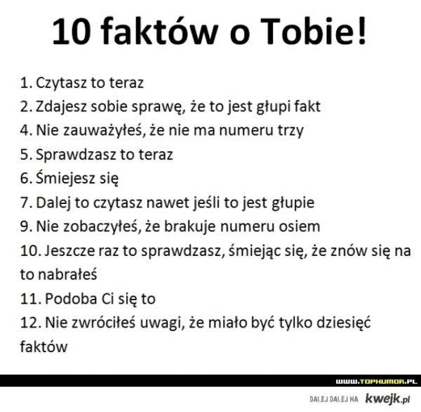 10 faktów o tobie