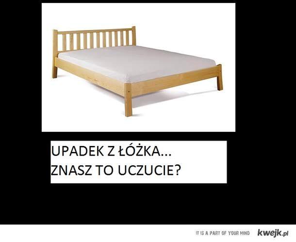 Łóżko, upadek, sen