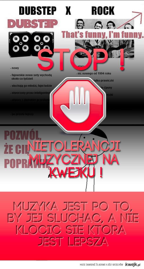 STOP NIETOLERANCJI MUZYCZNEJ