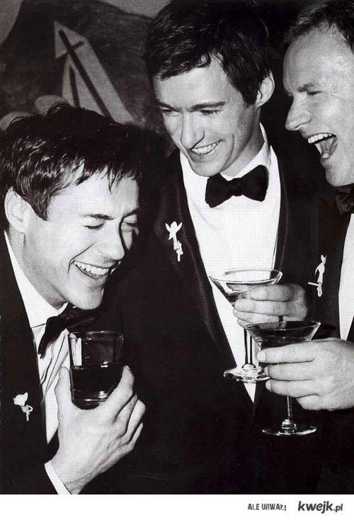Robert Downey Jr. Hugh Jackman  Sting