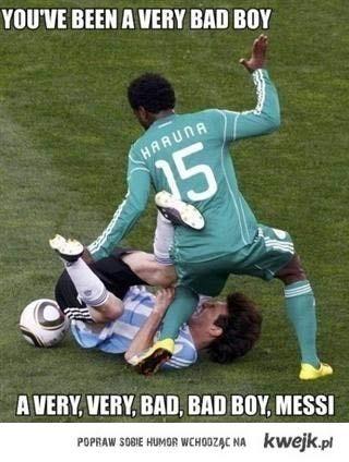 zły Messi