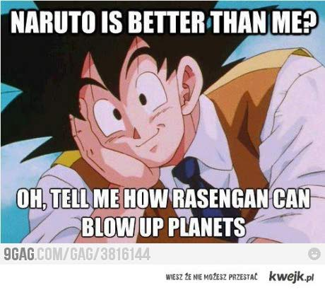 Naruto jest lepsze od Dragon Ball?? xD