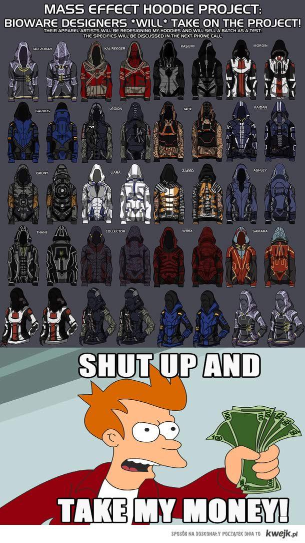 Bluzy z kapturem dla fanów Mass Effecta