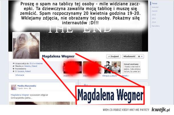 Zemsta, spam, facebook