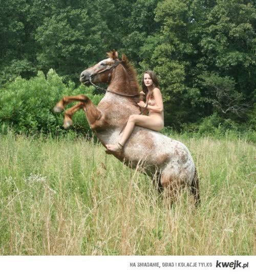 Siedze na koniu