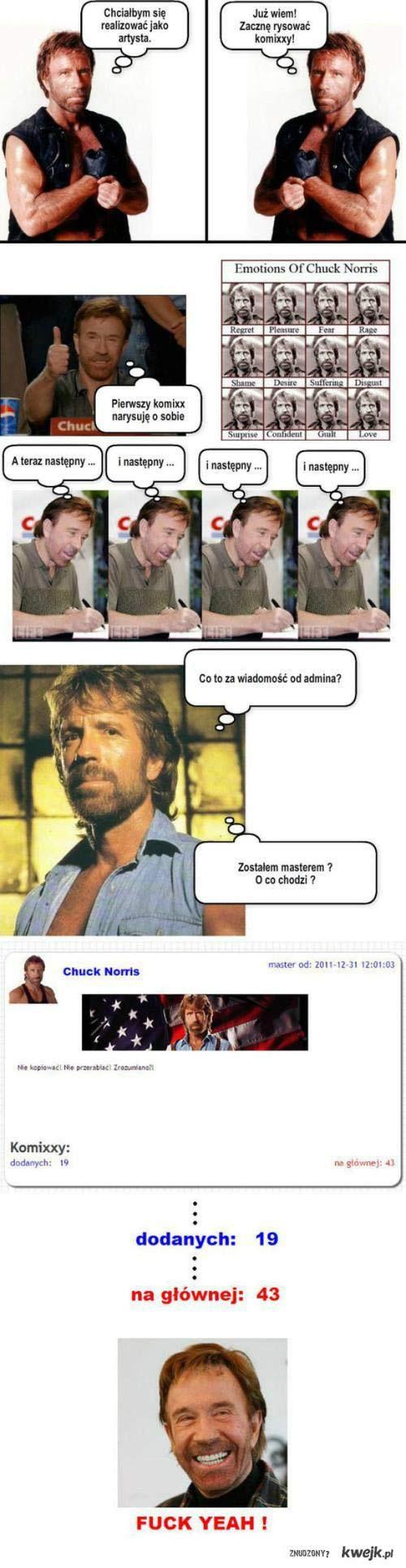 Chuck Norris rysuje komiksy