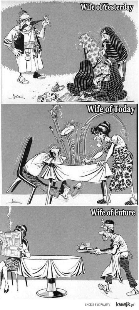 ewolucja żon